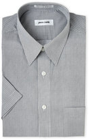 Pierre Cardin Short Sleeve Square Print Dress Shirt