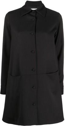 Societe Anonyme Pinstripe Single-Breasted Coat