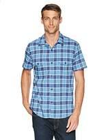 Lucky Brand Men's Causal Short Sleeve Plaid Button Down Shirt