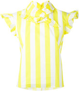 Marques Almeida Marques'almeida - striped bow-tie blouse - women - Cotton - S
