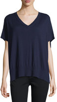Diane von Furstenberg Honey V-Neck Dolman Sweater, Midnight