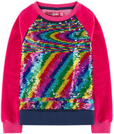 Desigual Velvet sweatshirt with reversible sequins
