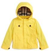 Burberry Toddler Boy's 'Mini Yateson' Hooded Rain Jacket