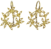 Cathy Waterman Circle of Flowers Earrings with Diamonds