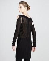 Donna Karan Cold-Shoulder Tunic, Black