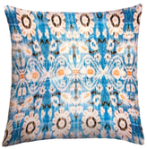 Found Object Floral Square Pillow