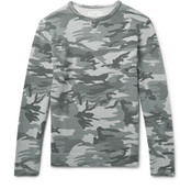 Officine Generale Camouflage-print Loopback Cotton-jersey Sweatshirt - Gray green