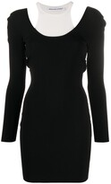 Alexander Wang layered sweater dress