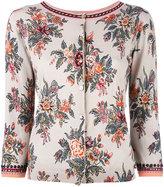Twin-Set embellished floral cardigan - women - Cotton/Viscose - XS