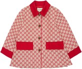 Gucci All Over Logo Cotton Canvas Jacket