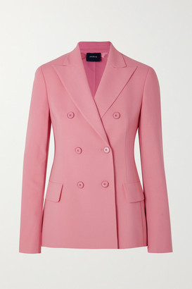 Akris Genaro Double-breasted Wool-blend Blazer - Pink