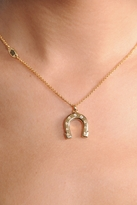Horseshoe Wish Love Luck Charm Necklace
