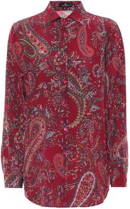 Etro Paisley silk twill blouse