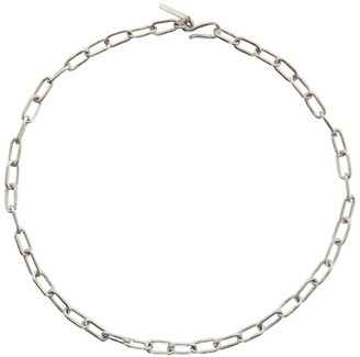 Sophie Buhai Silver Small Rectangular Chain Necklace