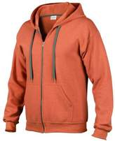 Gildan Heavy Blend Mens Vintage Full Zip Hooded Sweat / Hoodie (XL)