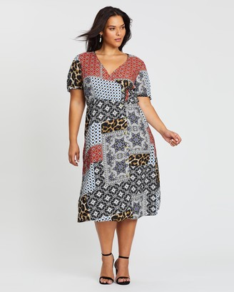 Simply Be Button-Through Wrap Dress