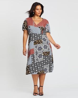 Simply Be Button-Through Wrap Dress