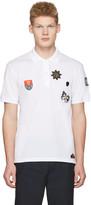 Alexander McQueen White Badges Polo