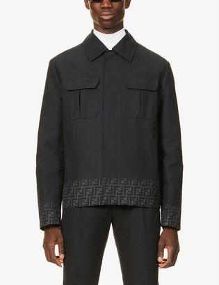 Fendi Logo-print cotton jacket