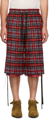 Faith Connexion Red and Black Tweed Laced Shorts