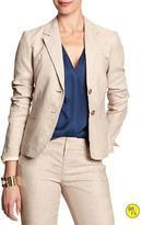 Banana Republic Factory Two-Button Linen Blazer