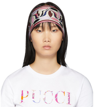 Emilio Pucci Multicolor Silk Printed Long Scarf Headband