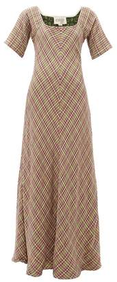 Ace&Jig Jamie Check-jacquard Flared Cotton Maxi Dress - Womens - Multi