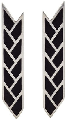 Baltera Orisis Stix Earrings - Black Enamel