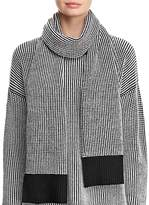 Eileen Fisher Textured Sweater-Knit Scarf