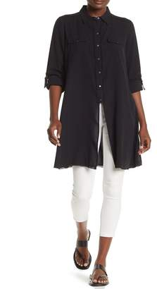 Go Silk Go by Shirt Off Your Back Button Front Silk Tunic