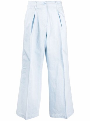 Cropped Wide-Leg Chinos