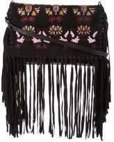 Isabel Marant Embroidered Fringed Shoulder Bag