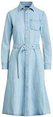 Polo Ralph Lauren Casual Belted Denim Shirtdress