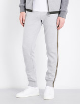 Moncler Striped-side cotton-jersey jogging bottoms