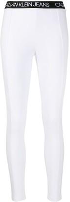 Calvin Klein Jeans Logo-Waistband Leggings