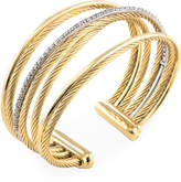 David Yurman Women's Vintage 18K Two-Tone Gold & 0.67 Total Ct. Diamond Crossover Four Row Cuff Bracelet