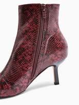 Topshop Maci Point Stiletto Boots - Burgundy