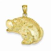 PriceRock 14k Gold Bass Fish Jumping Pendant