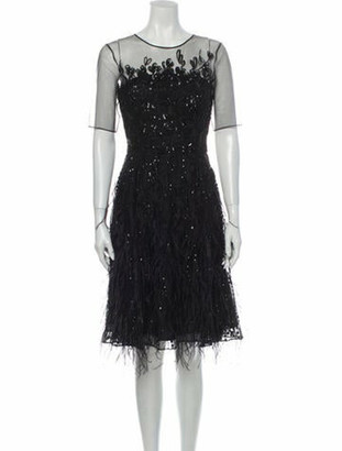 Oscar de la Renta 2013 Knee-Length Dress w/ Tags Black