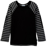 Splendid Striped Raglan Sleeve Long Sleeve Tee (Toddler Boys)