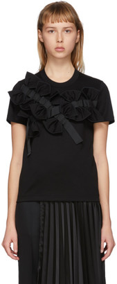Noir Kei Ninomiya Black Multi-Bow T-Shirt