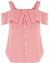 Warehouse Red Gingham Top