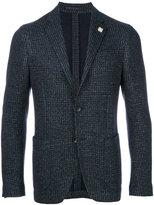 Lardini dogtooth two button blazer - men - Cotton/Linen/Flax/Polyester/Wool - 46