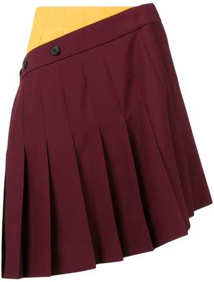 Calvin Klein asymmetric pleated mini skirt