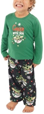 Munki Munki Matching Toddler Holiday Baby Yoda Family Pajama Set
