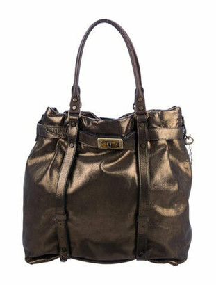 Lanvin Metallic Leather Tote Gold