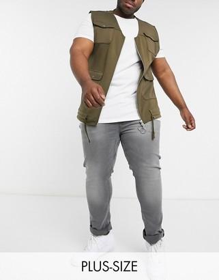 Burton Menswear Big & Tall jeans in grey