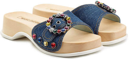 Marc Jacobs Embellished Denim Sandals