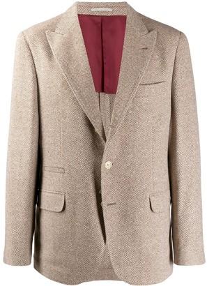 Brunello Cucinelli classic tweed blazer