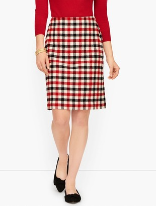 Talbots Festive Check Skirt